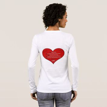 Big Red Heart Love Poem Long Sleeve T-Shirt