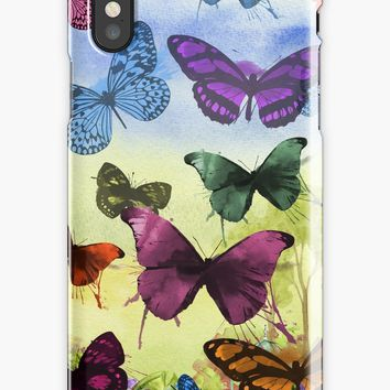 'Colorful butterflies' iPhone Case/Skin by KandM