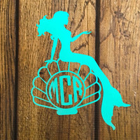 Mermaid Decal For Yeti Tumblers, Cars, and Tech Devices