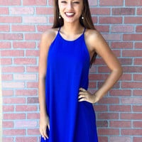 Blissfully Blue Dress - Royal Blue