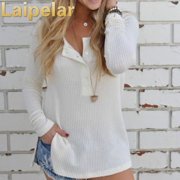 Laipelar Women Knitted Sweater Fashion Pullovers Sweaters Casual Long Sleeve Warm Knitwear Shrug Pull Femme Tops
