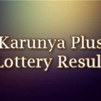 Karunya Plus Lottery Result Kerala Today
