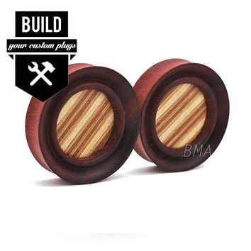 "Porthole Bloodwood and Skateboard Wood Plugs (16mm-51mm) (5/8""- 2"")"
