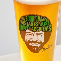 Bob Ross Pint Glass | Urban Outfitters