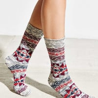Patterned Slouchy Crew Sock - Urban Outfitters