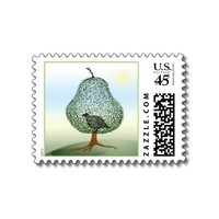 Partridge In A Pear Tree Stamp from Zazzle.com