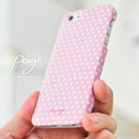 Apple iphone case for iphone iPhone 5 iphone 4 iphone 4s iphone 3Gs : Pink polka dots