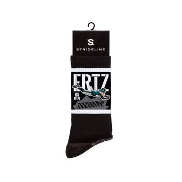 NFLPA Strideline Zach Ertz Touchdown Black Crew Socks