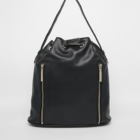 French Connection Athena Duffle Backpack with Zip Detail at asos.com