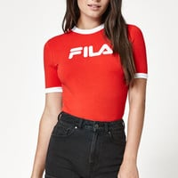 Fila Tionne Cropped Ringer T-Shirt at PacSun.com