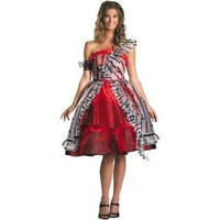 Alice In Wonderland - Alice Red Court Dress Adult Costume 800249