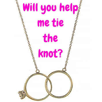Tie the Knot Engagement Rings Necklace