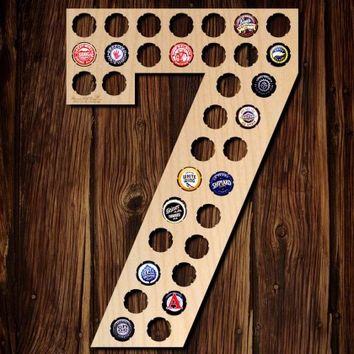 Number Seven Beer Cap Map