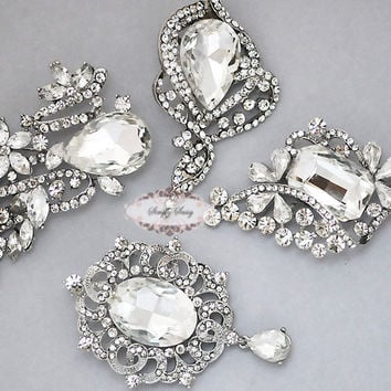 Rhinestone Brooch Set