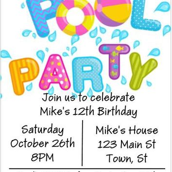 10 Pool Party Invitations