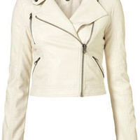 Clean PU Biker Jacket - Bikers & Bombers - Jackets & Coats - Apparel - Topshop USA