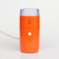 Iconic Braun / Iskra Electric Coffee Grinder / Surgar Mill KSM 1 G  by Reinhold Weiss / Orange