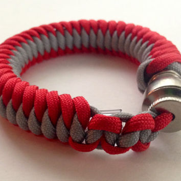 Red and Grey Secret Pipe Bracelet w/ FREE SHIPPING