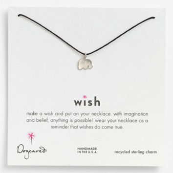 Dogeared 'Wish' Elephant Charm Necklace