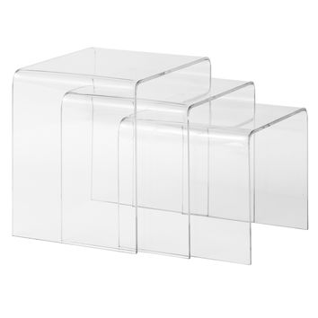 Burton Nesting Tables in Clear