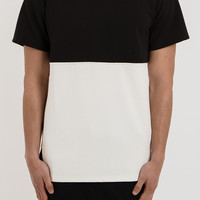 TS021 Colour Block Tee - Monochrome