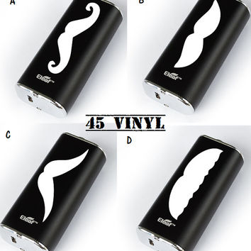 Mustache Mod Decal - Custom Decal - Can be Made to Fit Any Mod - Vaping - Vape
