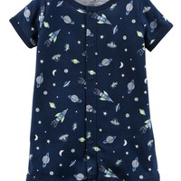 Space Snap-Up Romper