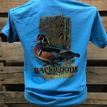 Backwoods Born & Raised Mallard Duck Country Comfort Colors Bright Unisex T Shirt