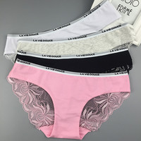 Lace Cotton Ladies Alphabet Panties [10304896396]