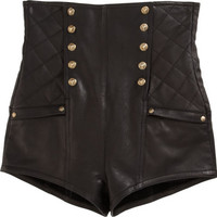 Balmain High Waisted Shorts at Barneys.com