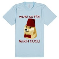 Funny Doge Meme - Doctor Who Parody - So Fez-Light Blue T-Shirt