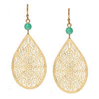 Turquoise & Gold Drop Earrings