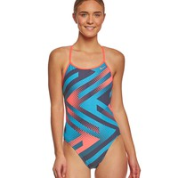 Nike Women's Tidal Riot Modern Cut Out One Piece Swimsuit at SwimOutlet.com - Free Shipping