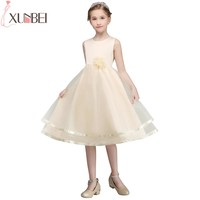 Real Photo First Communion Dresses For Girls Soft Tulle Flower Girl Dresses 2018 Princess Kids Prom Dress vestido comunion