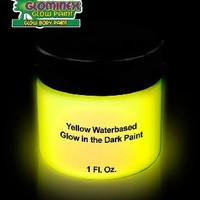 Glominex AD389 Glow Body Paint 1oz Jar - Yellow