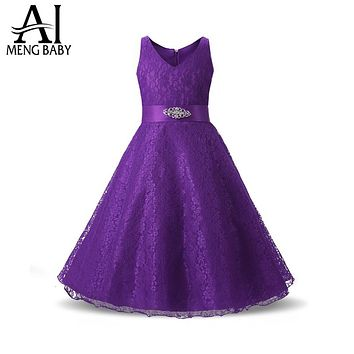 Wedding Party Princess Girl Dress Formal Wear 8 9 10 11 12 Years Birthday Dresses for Girls baptism Kids Flower Girls Clothes