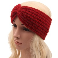 hot sale winter knit headband for women headwear good quality girls head band crochet hairband warm head wrap 9colors