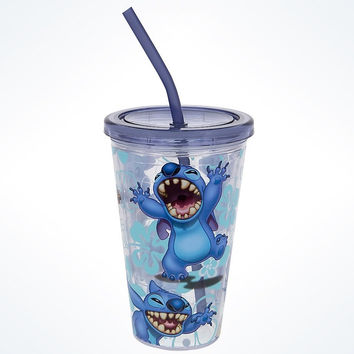 Disney Parks Stitch Acrylic Tumbler with Straw New