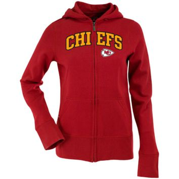 Antigua Kansas City Chiefs Ladies Signature Full Zip Hoodie - Red