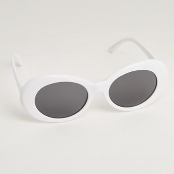 White Oval Sunglasses