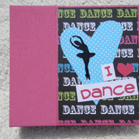 6x6 Dance Scrapbook Photo Album in Pink Binder