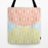 THREE TONE GRAPHICAL LEAF - A GENTILE SUMMER COCKTAIL Tote Bag by RunnyCustard Illustration