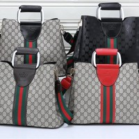 """""""Gucci"""" Men Fashion Casual Simple Classic Print Backpack Large Capacity Travel Double Shoulder Bag"""