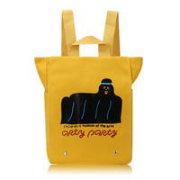 Women Men Lovely Cartoon Cute Yellow Large Capacity Shoulder Bags Tote Backpack School Bags