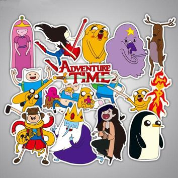 29pcs/Lot Adventure Time Cartoon Kids Stickers For Luggage Suitcase Skateboard Motor Car Pegatinas Adesivi Waterproof Stickers