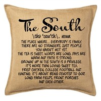 The South Throw Pillow