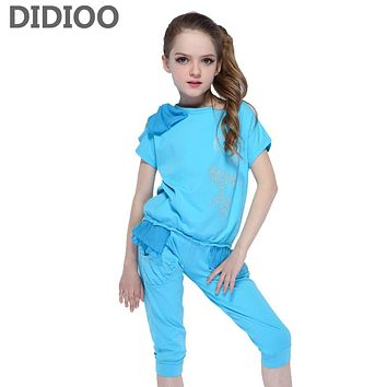 Kids Clothing Sets For Girls Sports Suits Chiffon T-Shirts & Shorts Summer Children Outfits 4 6 8 9 10 Years School Clothes