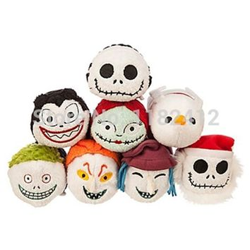 Tsum Tsum Mini Plush Nightmare Before Christmas Jack Skellington Sally Zero Dog Vampire Teddy Barrel Shock Lock Screen Cleaner
