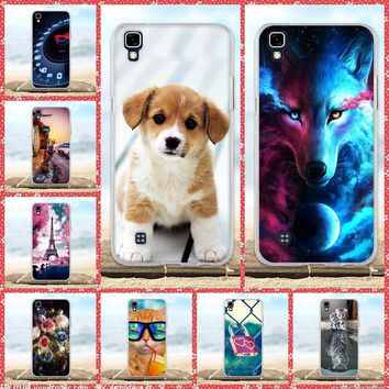 for LG X Power Case K220DS K220 LS775 Cover Soft Silicone TPU Bag Shell For Coque LG X power Phone Cases 3D Animal Cute Fundas
