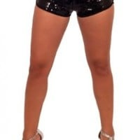 Womens Trendy Micro Mini Sequins Lounge Shorts
